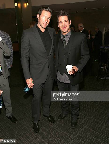 Edward Burns and Christian Kane attend the 2014 TNT/TBS Upfront at The Theater at Madison Square Garden on May 14 2014 in New York City