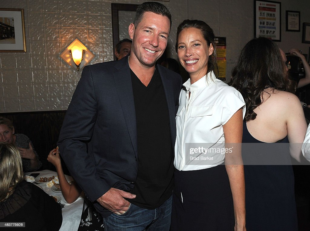 Edward Burns(L) and Christy Turlington Burns attend The NYMag, Vulture + TNT Celebrate the Premiere of 'Public Morals' on August 12, 2015 in New York City.