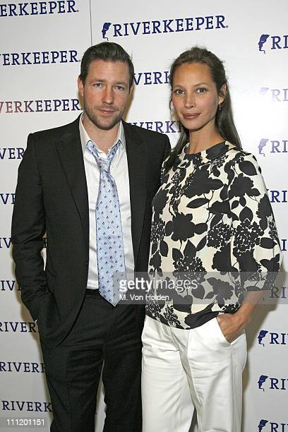 Edward Burns and Christy Turlington Burns during Riverkeeper Hosts a Gala Benefit Dinner Honoring Hearst Corporation April 19 2007 at Chelsea Piers...
