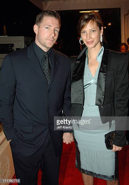 Edward Burns and Christy Turlington during 20th Annual Rock and Roll Hall of Fame Induction Ceremony Red Carpet at Waldorf Astoria Hotel in New York...
