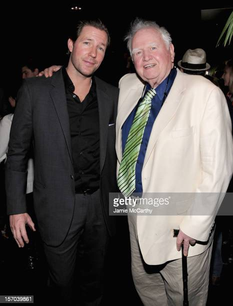 Edward Burns and Malachy McCourt attend the after party for the Tribeca Film's Special New York Screening Of The Fitzgerald Family Christmas at the...