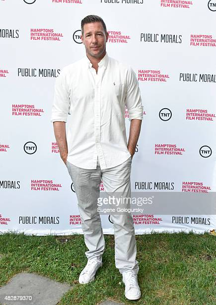 Edward Burns attends Public Morals a TNT Original Series screening presented by the Hamptons International Film Festival and TNT at Guild Hall on...