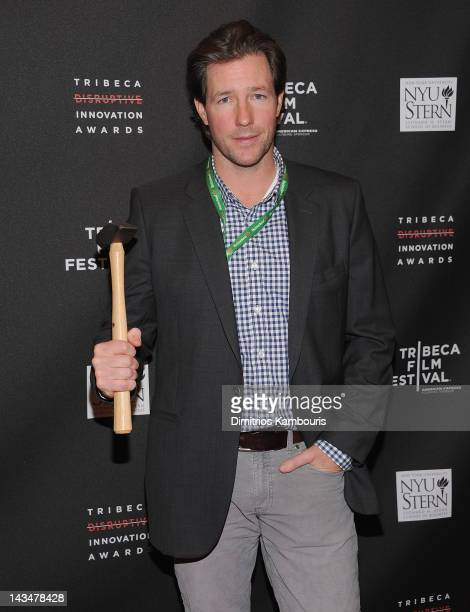 Edward Burns attends the 3rd annual Tribeca Disruptive Innovation Awards during the 2012 Tribeca Film Festival at NYU Paulson Auditorium on April 27...