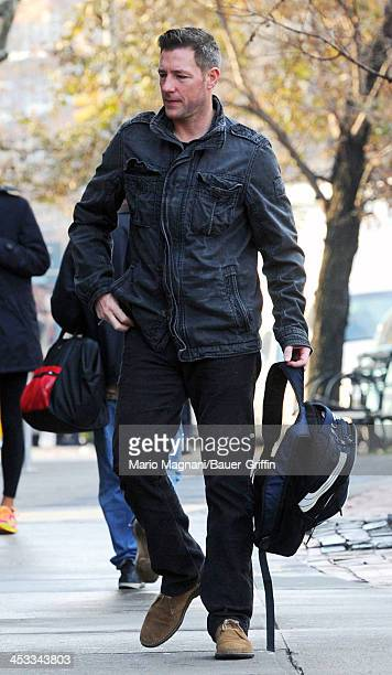 Edward Burns is seen with his son Finn Burns on December 03 2013 in New York City