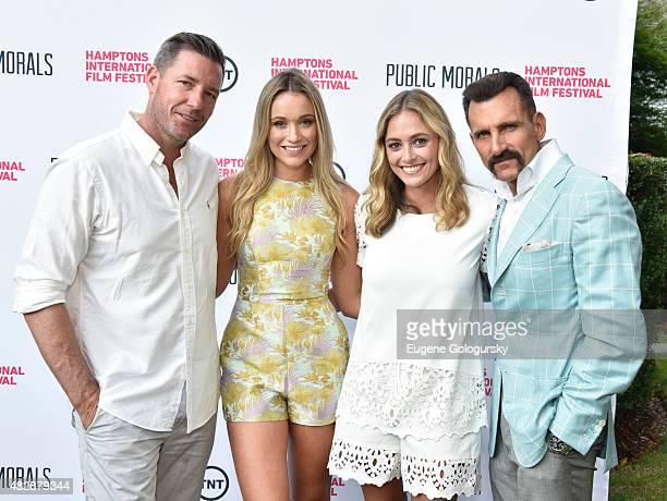Edward Burns Katrina Bowden Elizabeth Masucci and Wass Stevens attend Public Morals a TNT Original Series screening presented by the Hamptons...