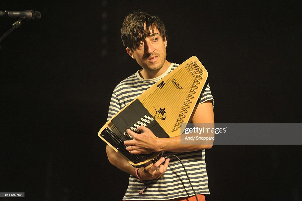 Edward Droste of the band Grizzly Bear performs on stage during End Of The Road Festival 2012 at Larmer Tree Gardens on September 1, 2012 in Salisbury, United Kingdom.