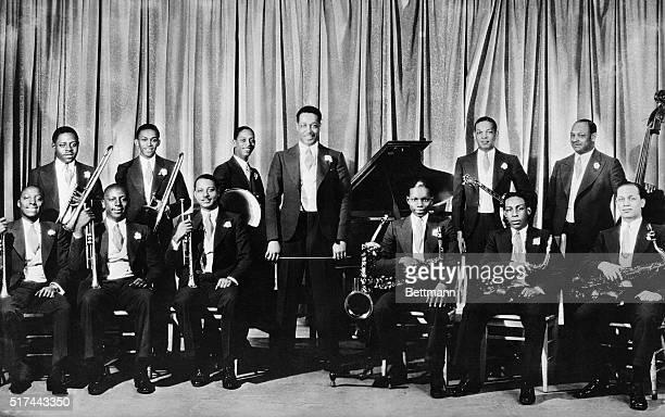 Edward Duke Ellington and his band named Nuf Said pose for publicity photograph