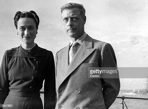 Edward Duke of Windsor with his wife the Duchess of Windsor Wallis Simpson