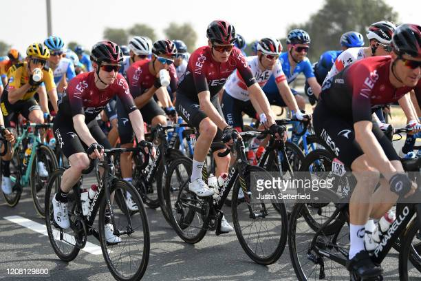 Edward Dunbar of Ireland and Team INEOS / Chris Froome of The United Kingdom and Team INEOS / Peloton / during the 6th UAE Tour 2020 Stage 1 a 148km...
