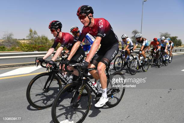 Edward Dunbar of Ireland and Team INEOS / Chris Froome of The United Kingdom and Team INEOS / during the 6th UAE Tour 2020 Stage 3 a 184km stage from...