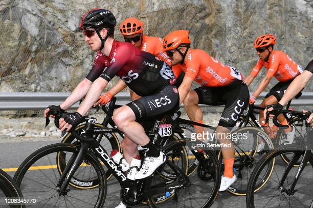 Edward Dunbar of Ireland and Team INEOS / Jakub Mareczko of Italy and CCC Team / Victor De La Parte of Spain and CCC Team / during the 6th UAE Tour...