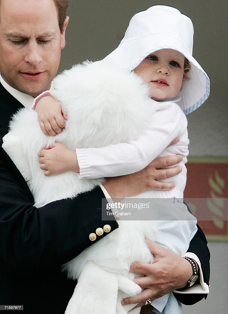Prince Edward & Daughter on Cruise Holiday : News Photo