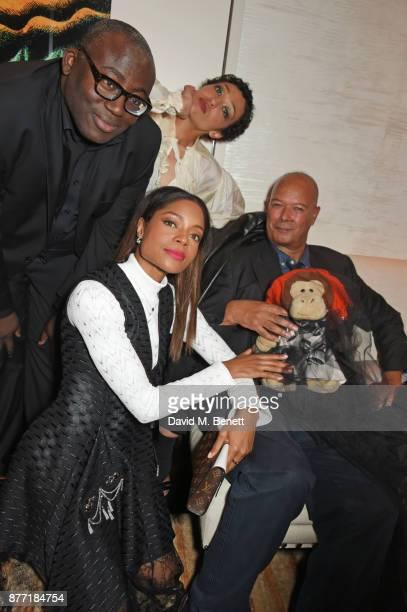 Edward Enniful Naomie Harris Ruth Negga and Michael Roberts attend Louis Vuittons Celebration of GingerNutz in Vogue's December Issue on November 21...