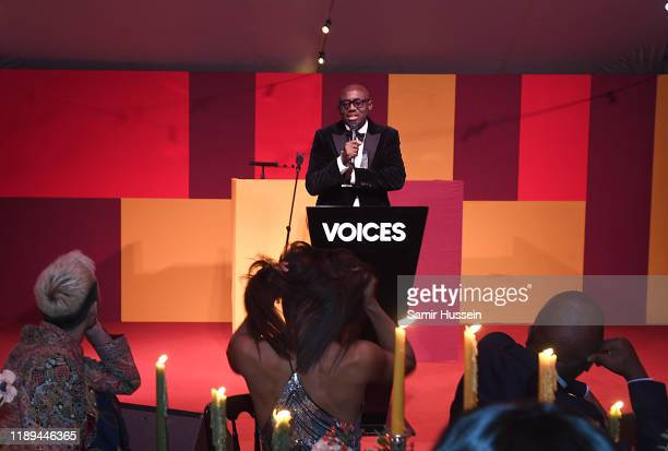 Edward Enninful accepts the Global VOICES Award 2019 during the gala dinner at #BoFVOICES on November 22 2019 in Oxfordshire England