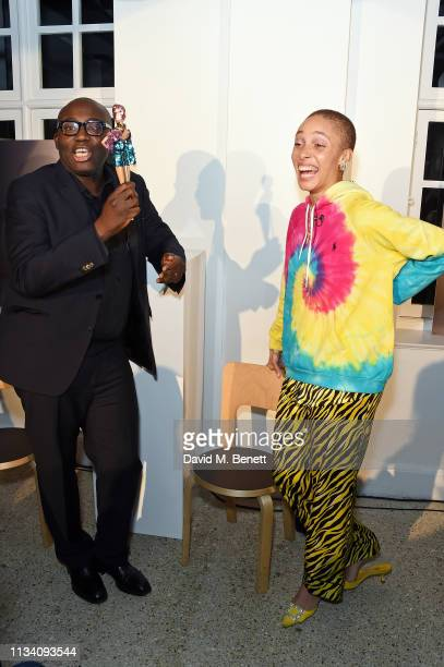 Edward Enninful and Adwoa Aboah attend the Gurls Talk x Barbie event hosted by Adwoa Aboah celebrating their collaboration at Dover Street Market on...