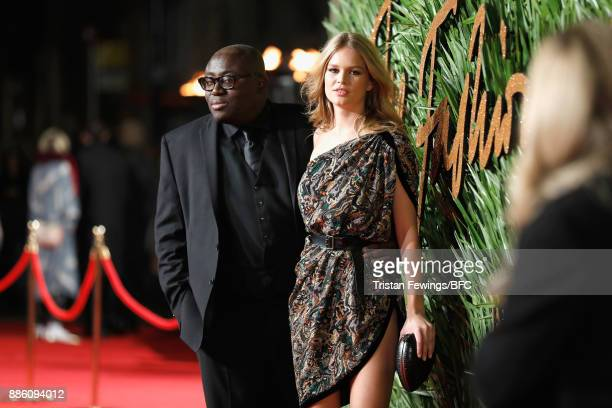 Edward Enninful and Anna Ewers attend The Fashion Awards 2017 in partnership with Swarovski at Royal Albert Hall on December 4 2017 in London England