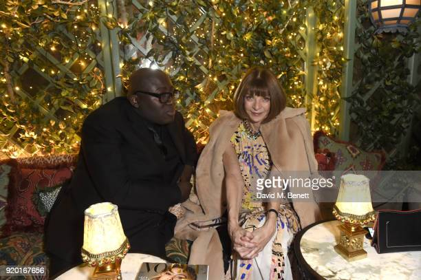 Edward Enninful and Anna Wintour attend as Tiffany Co partners with British Vogue Edward Enninful Steve McQueen Kate Moss and Naomi Campbell to...