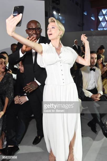 Edward Enninful and Caroline Vreeland attend Fashion for Relief Cannes 2018 during the 71st annual Cannes Film Festival at Aeroport Cannes Mandelieu...