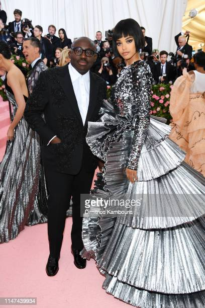 Edward Enninful and Ella Balinska attend The 2019 Met Gala Celebrating Camp Notes on Fashion at Metropolitan Museum of Art on May 06 2019 in New York...