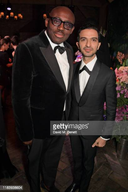 Edward Enninful and Founder & CEO of Business of Fashion Imran Amed attend the gala dinner in honour of Edward Enninful, winner of the Global VOICES...