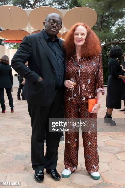 Edward Enninful and Grace Coddington attends Louis Vuitton 2019 Cruise Collection at Fondation Maeght on May 28 2018 in SaintPaulDeVence France