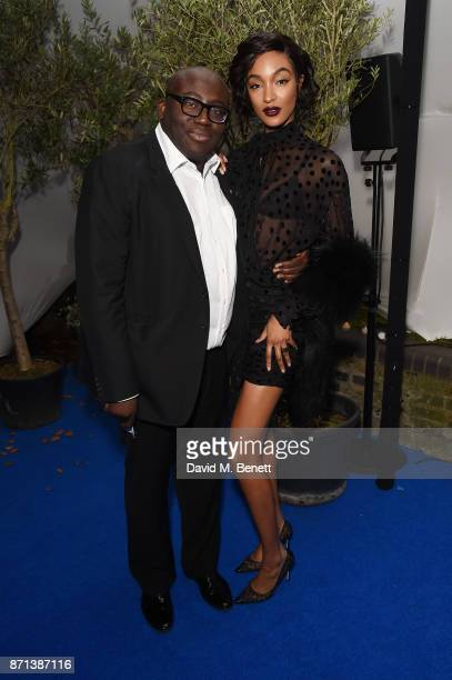 Edward Enninful and Jourdan Dunn attend a dinner hosted by Jonathan Newhouse and Albert Read for Edward Enninful to celebrate the December issue of...