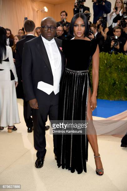 Edward Enninful and Naomi Campbell attend the 'Rei Kawakubo/Comme des Garcons Art Of The InBetween' Costume Institute Gala at Metropolitan Museum of...