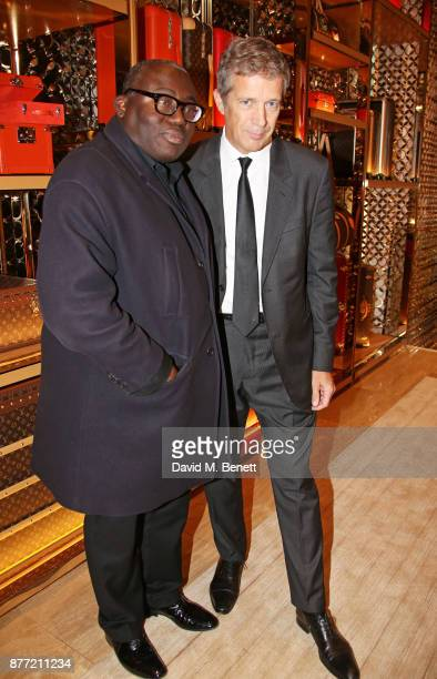 Edward Enninful and Tom Meggle attend Louis Vuittons Celebration of GingerNutz in Vogue's December Issue on November 21 2017 in London England