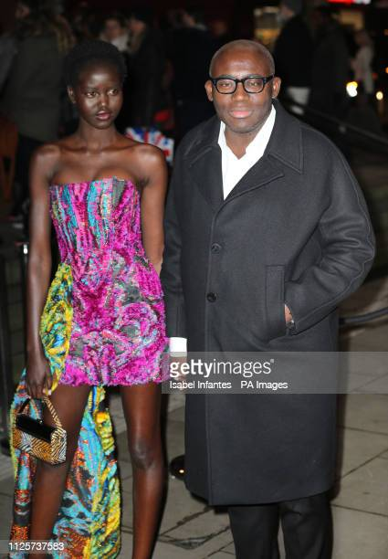 Edward Enninful arrives at the Late Fabulous Fund Fair at the Roundhouse in London during the Autumn/Winter 2019 London Fashion Week