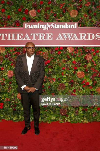 Edward Enninful attends 65th Evening Standard theatre Awards in association with Michael Kors at the London Coliseum on November 24, 2019 in London,...