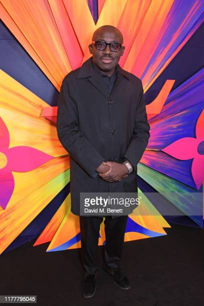 Edward Enninful attends an after party celebrating the reopening of the Louis Vuitton New Bond Street Maison at Annabel's on October 23 2019 in...