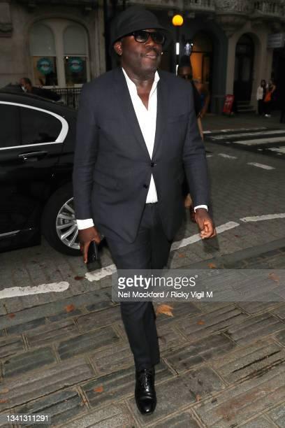 Edward Enninful attends Erdem at The British Museum during London Fashion Week September 2021 on September 19, 2021 in London, England.