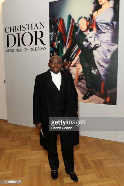 Edward Enninful attends the 'Christian Dior Designer Of Dreams' exhibition at the VA opening gala dinner on January 29 2019 in London England