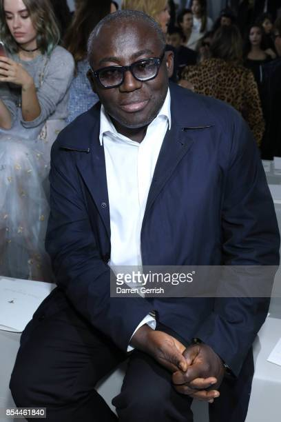 Edward Enninful attends the Christian Dior show as part of the Paris Fashion Week Womenswear Spring/Summer 2018 on September 26 2017 in Paris France