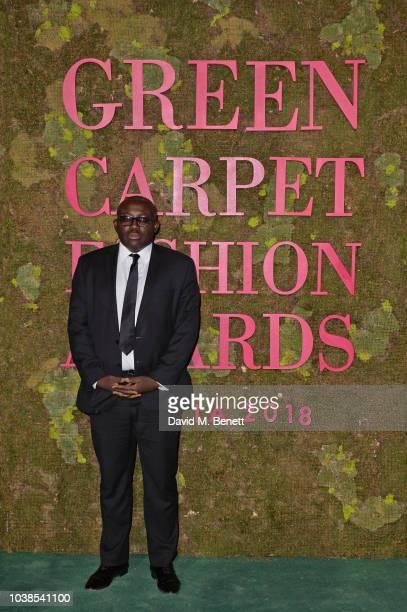 Edward Enninful attends The Green Carpet Fashion Awards Italia 2018 at Teatro Alla Scala on September 23, 2018 in Milan, Italy.