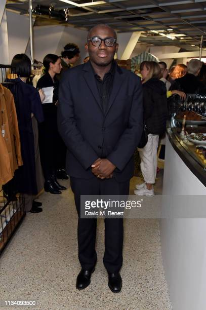 Edward Enninful attends the Gurls Talk x Barbie event hosted by Adwoa Aboah celebrating their collaboration at Dover Street Market on March 06 2019...