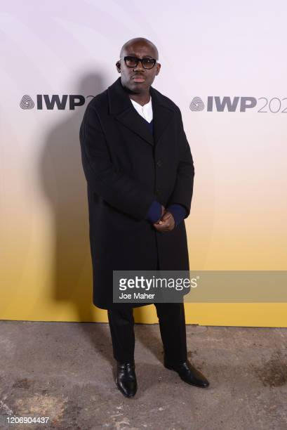 Edward Enninful attends the International Woolmark Prize 2020 during London Fashion Week February 2020 at Ambika P3 on February 17 2020 in London...