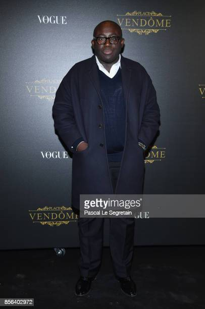 Edward Enninful attends the Irving Penn Exhibition Private Viewing Hosted by Vogue as part of the Paris Fashion Week Womenswear Spring/Summer 2018 on...