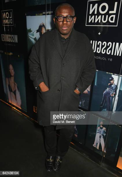 Edward Enninful attends the Lon Dunn Missguided launch event hosted by Jourdan Dunn at The London EDITION on February 17 2017 in London England