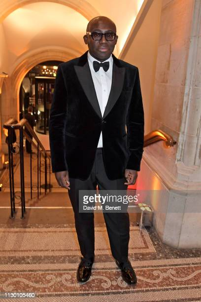 Edward Enninful attends The Portrait Gala 2019 hosted by Dr Nicholas Cullinan and Edward Enninful to raise funds for the National Portrait Gallery's...