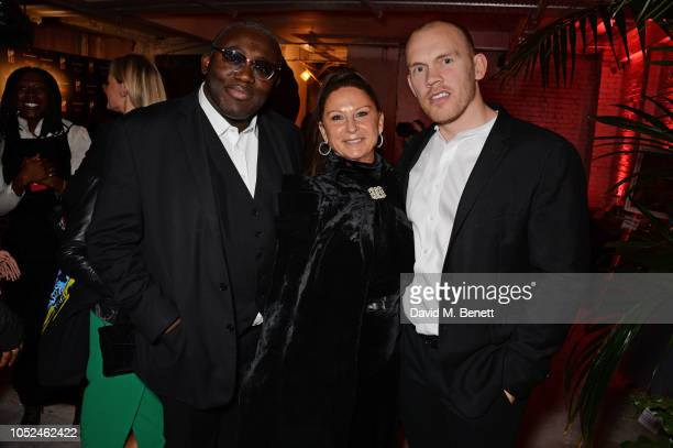 Edward Enninful Fran Cutler and Alec Maxwell attend the Big Up Uganda fundraising gala for Save The Children hosted by Adwoa Aboah Felix Cooper at...