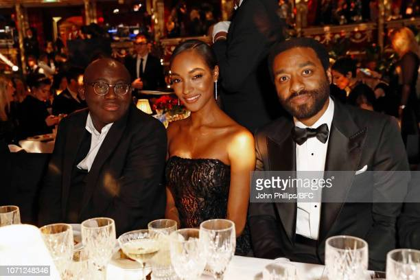 Edward Enninful Jourdan Dunn and Chiwetel Ejiofor attend The Fashion Awards 2018 In Partnership With Swarovski at Royal Albert Hall on December 10...