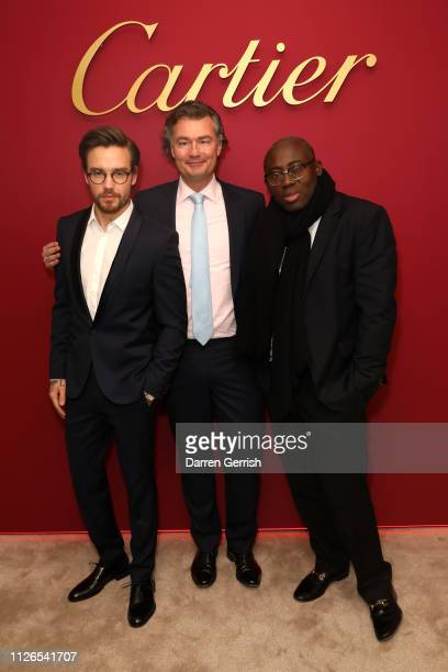 Edward Enninful Laurent Feniou and Liam Payne attend as Cartier celebrates the reopening of the New Bond Street boutique on January 31 2019 in London...