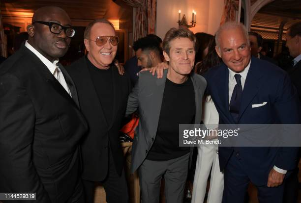 Edward Enninful Michael Kors Willem Dafoe and CEO of Finch Partners Charles Finch attend the 10th Annual Filmmakers Dinner hosted by Charles Finch...