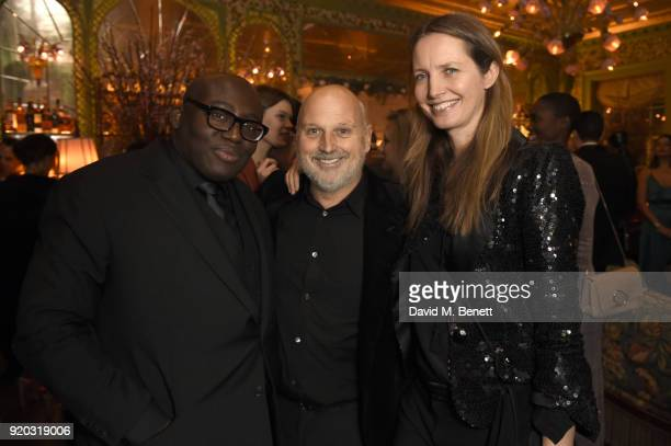 Edward Enninful Sam McKnight and guest attend as Tiffany Co partners with British Vogue Edward Enninful Steve McQueen Kate Moss and Naomi Campbell to...