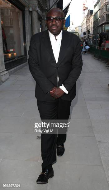 Edward Enninful seen attending Azzedine Alaia flagship store launch party on April 26 2018 in London England