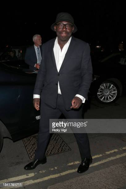 Edward Enninful seen attending the BFC Changemakers Prize in partnership with Swarovski at Annabel's during London Fashion Week September 2021 on...