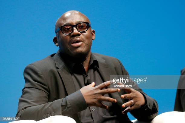 Edward Enninful speaks onstage during the HP and Omnicom Group session at the Cannes Lions Festival 2018 on June 19 2018 in Cannes France