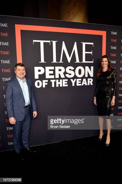 Edward Felsenthal and Lynne Benioff attend the TIME Person Of The Year Celebration at Capitale on December 12 2018 in New York City