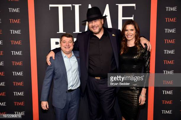Edward Felsenthal Marc Benioff and Lynne Benioff attend the TIME Person Of The Year Celebration at Capitale on December 12 2018 in New York City